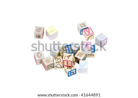 Baby Blocks - stock photo