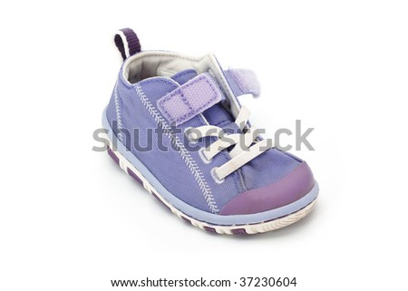 Baby boots isolated on white background - stock photo