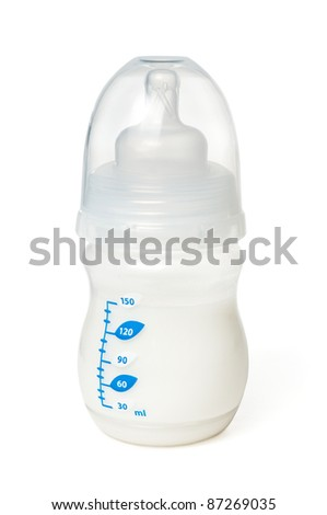Baby bottle isolated on white