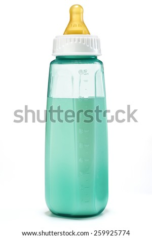 Baby Bottle with Milk - stock photo