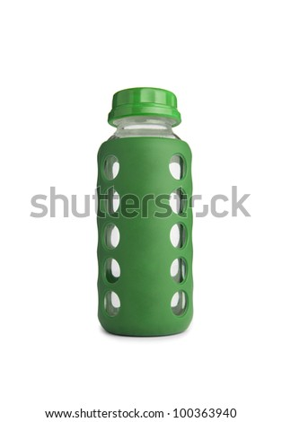 baby bottle without soother - stock photo