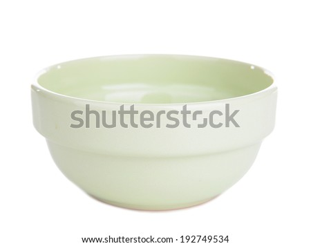 Baby bowl isolated on white - stock photo