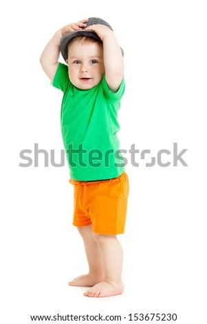 baby boy isolated. - stock photo