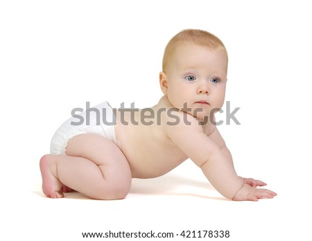 Baby boy isolated on white background
