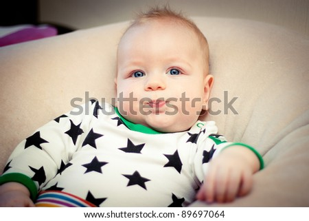 Baby boy posing - stock photo