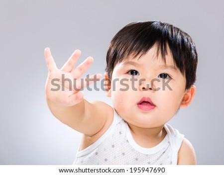 Baby boy say no - stock photo