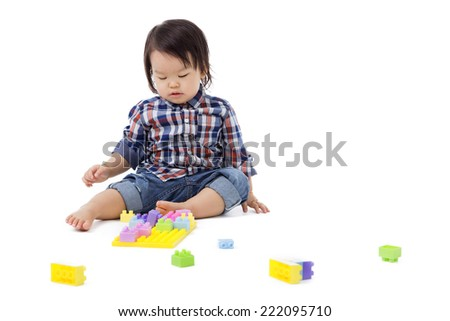Baby Boy white background.  - stock photo
