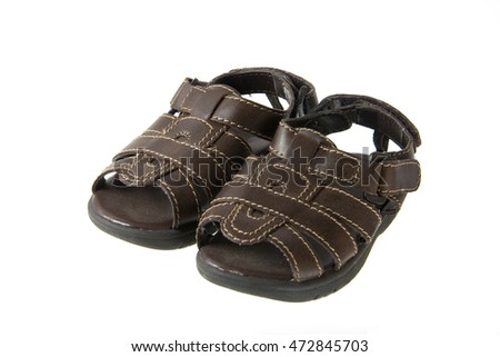 Baby brown leather sandals