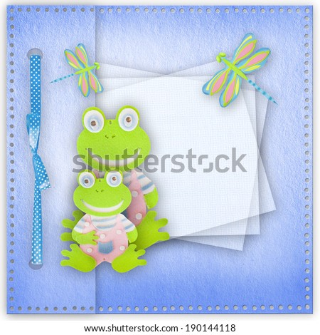 Baby card. - stock photo
