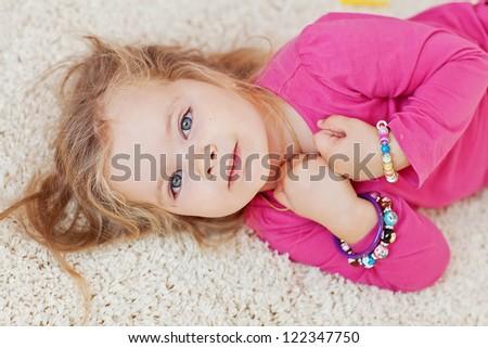 baby carpet - stock photo
