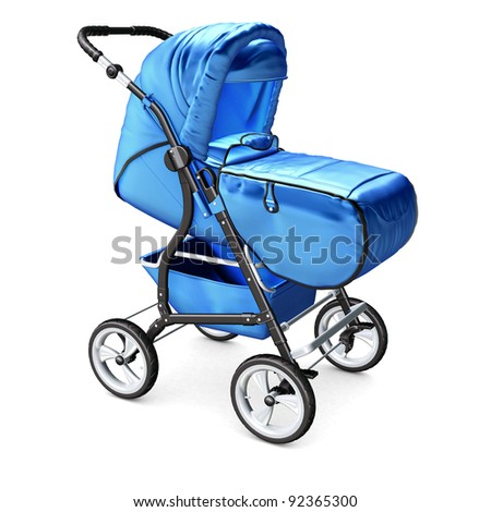 Baby Carriage on white