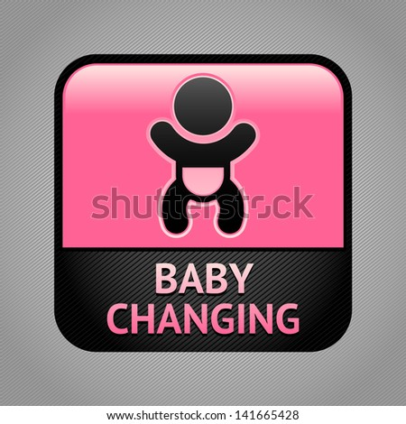 Baby changing facilities room symbol, public information sign. Rasterized versions (copy) - stock photo