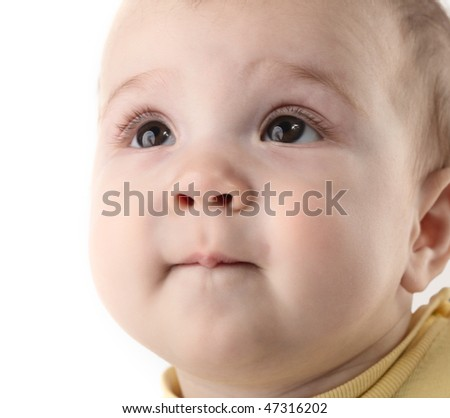 baby close up - stock photo