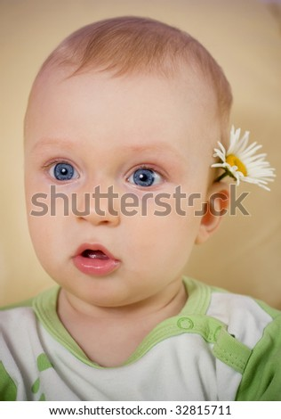 baby close-up portrait