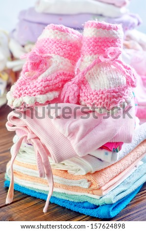 baby clothes - stock photo
