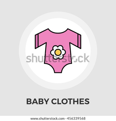 Baby Clothes flat icon isolated on the white background. - stock photo
