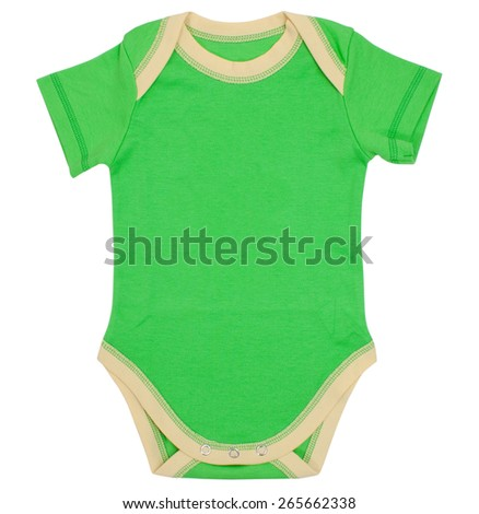 Baby clothes isolated on a white background. Clipping paths included. - stock photo