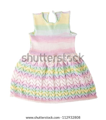 Baby clothes isolated on white background - stock photo