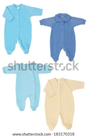 Baby clothes, wear isolated on white background