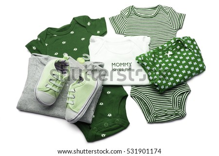 Baby Clothing on white background