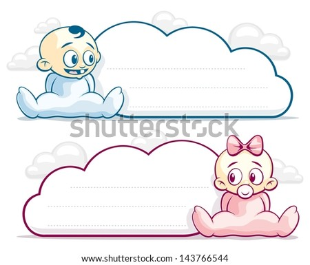 Baby Cloud Blank/Form cloud of babies boy and girl