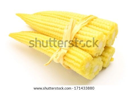 baby corn - stock photo