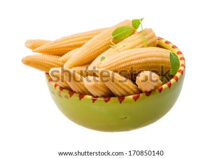 Baby corn isolated