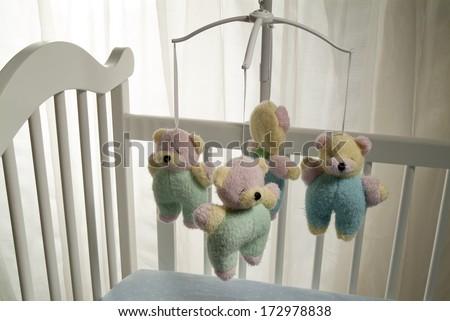 baby crib - stock photo