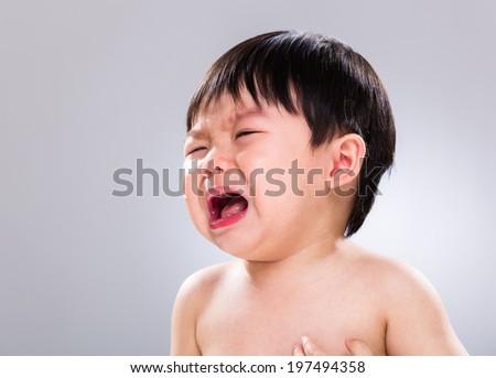 Baby cry - stock photo