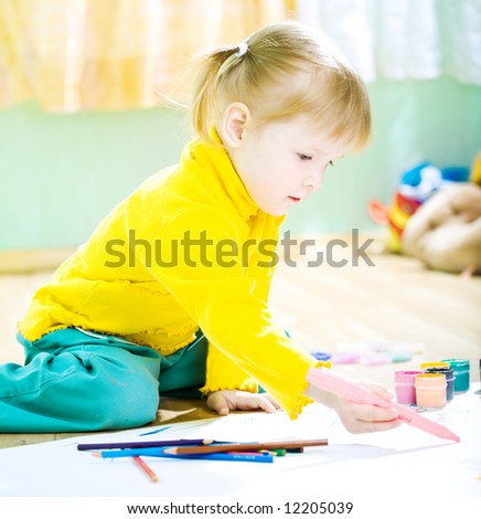 baby draw color paint