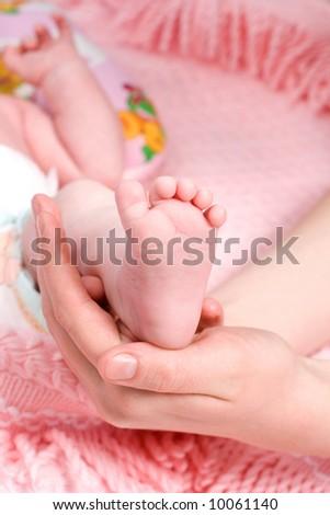 baby foot - stock photo