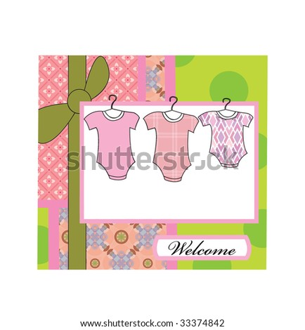 Baby girl arrival - stock photo