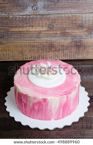 baby girl birthday cream cheese pink cake