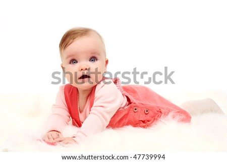 baby girl (6 month) - stock photo