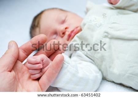 baby-hand - stock photo