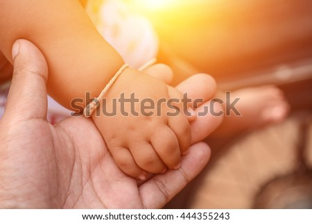 baby hand in hand adult