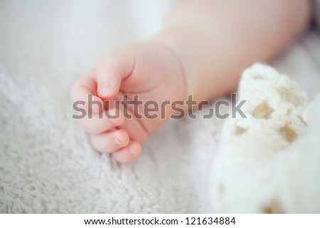 baby hand relaxed