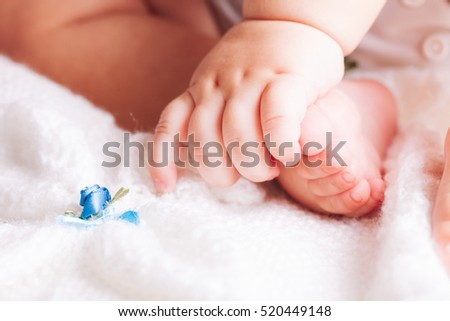 Baby hands and foot