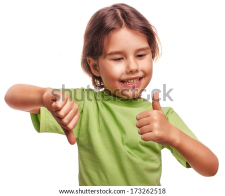 baby happy little girl shows sign yes no gesture isolated on white background emotions large - stock photo