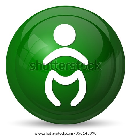 Baby icon. Internet button on white background.