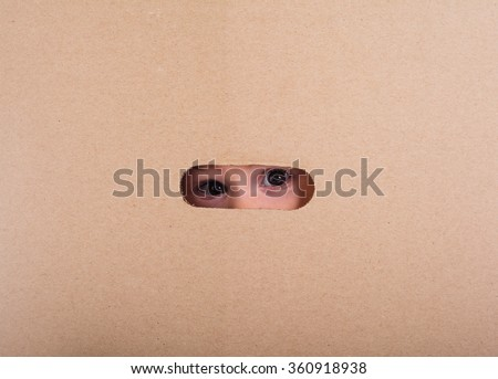 Baby in a box - stock photo