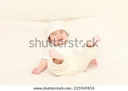 baby in a good mood  - stock photo