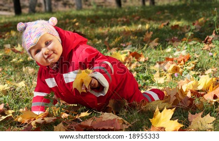 baby in autumn park