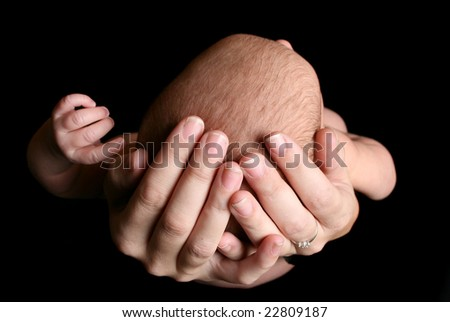 Baby in Mother's Hands 3 - stock photo