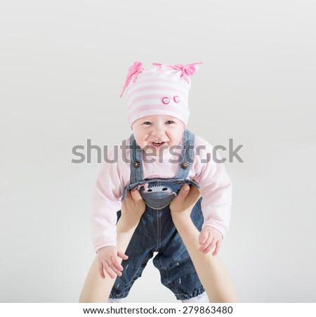 baby in mother's  hands - stock photo
