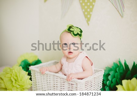 baby in the box - stock photo