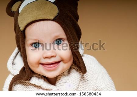 baby in the cap. - stock photo