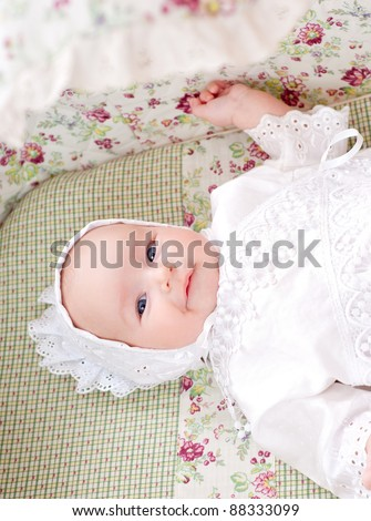 baby in the cradle - stock photo