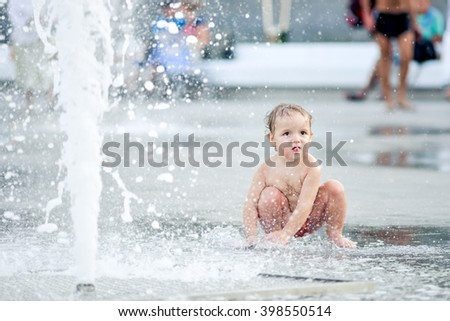 baby in the fountain