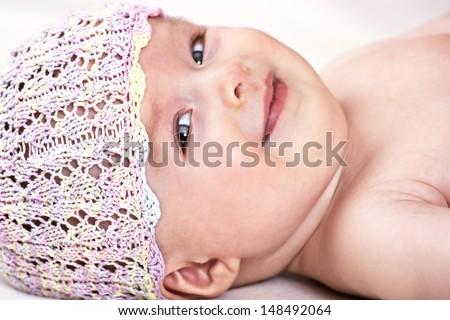 Baby innocent smile - stock photo